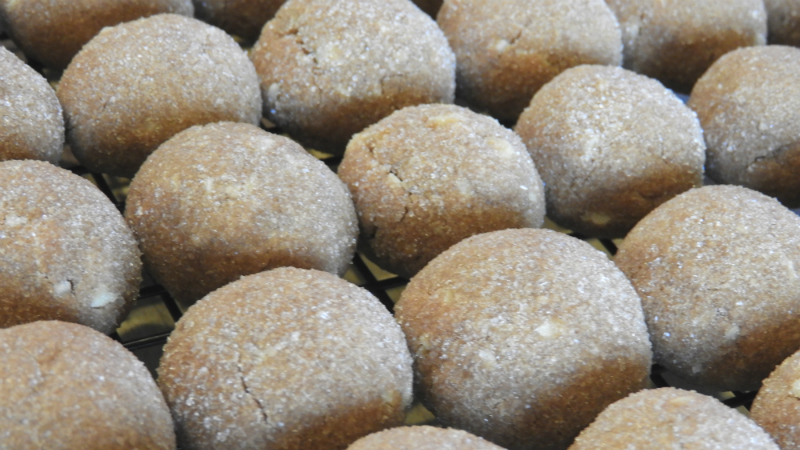 Chocolate Almond Butterballs - Feature