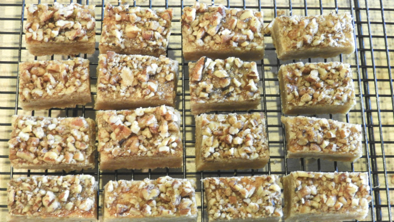 Cinnamon Nut Squares - Feature
