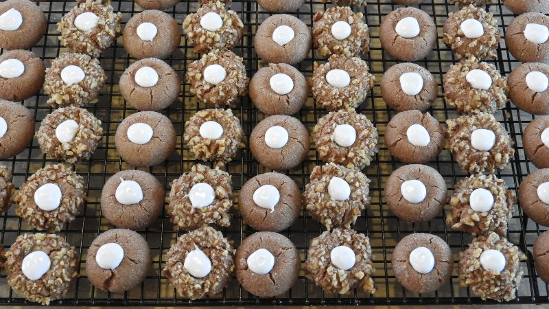 Chocolate Thumbprint Cookies - Feature